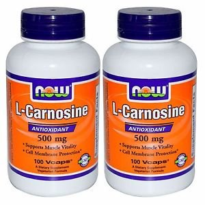 2 Pack Now Foods L-Carnosine 500 mg , 100 Vcaps