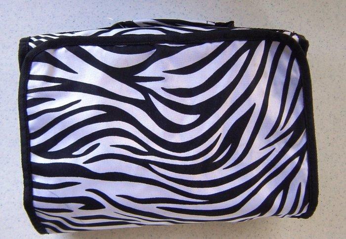 Zebra Print Hanging Cosmetic Travel Bag