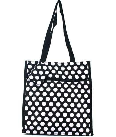 Black & White Polka Dot Tote Bag