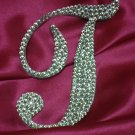 """Swarovski Crystal Monogram Cake Topper """"T"""""""