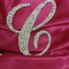 """Swarovski Crystal Monogram Cake Topper """"C"""""""