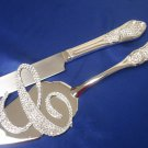 Monogram Cake Topper & Cake Knife & Server Set Package (Clear Only)