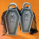 "7"" x 1 1/2"" x 14"" Cardboard ""R.I.P."" Coffin-Shaped Gift Bags."
