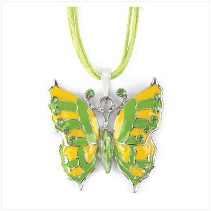 BUTTERFLY PENDANT-PEWTER