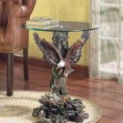 EAGLE/TREE BASE/GLASS TABLETOP