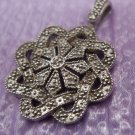 Fantastic Pendant Sterling 925 Silver w/ Approx 6 Diamonds Signed China PGD A