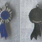 Vintage Charm Enamel on Sterling 925 Silver FLAT 1st Place Blue Ribbon