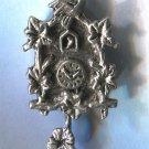 Vintage 800 Silver Swinging Flower Pendulum Cuckoo Clock