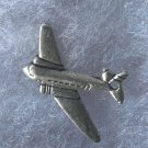 Vintage Silver (Almost but NOT) Flat Airplane Charm