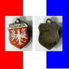FRANKFURT M Enamel & Silver Travel Shield Souvenir Charm