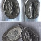 Vintage Hayward Sterling Slide Open Religious Locket St Christopher & Mary Medal