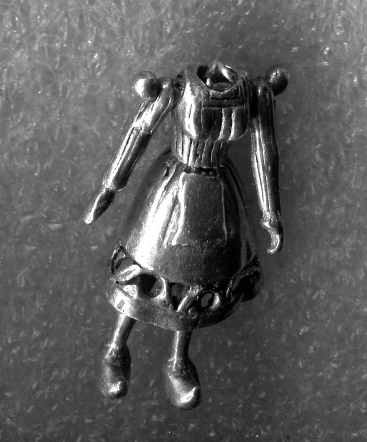 Vintage Silver Headless Articulated Girl or Woman Charm