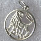 cut-out LEO charm STERLING 925 SILVER ZODIAC HOROSCOPE ASTROLOGY