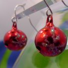 Hook Earrings : Holiday Party Christmas Tree Ornaments - Snow Flakes on a Bell