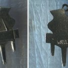 Vintage Music Charm : Wells Sterling Flat Piano Charm