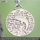 Inspirational Kevin & Anna Charm 950 Silver / DOLPHIN = JOY QUOTE / 16mm