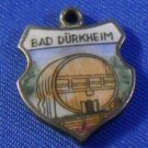 BAD DURKHEIM Enamel & 835 Silver Travel Shield Souvenir Charm