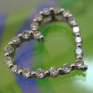 Sparkling Sterling 925 Silver CZ Heart Outline by R CHINA