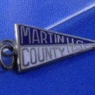 MARTIN COUNTY HIGH SCHOOL Kinney  Sterling Silver & Enamel Charm
