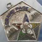 1981 Eastern Star Grand Page Sterling & Enamel CHARM