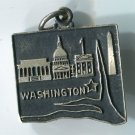 TRAVEL SOUVENIR CHARM : MAP : JMF STERLING : WASHINGTON