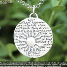 Inspirational Kevin & Anna  Charm 950 Silver / SUN = HOPE QUOTE / 22mm