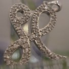 "Vintage Initial ""H"" Pendant Sterling Sparkles Like The Real Thing"