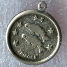 vintage PISCES CHARM : BEAU STERLING 925 SILVER ZODIAC HOROSCOPE ASTROLOGY