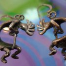 vintage KOKOPELLI FLUTE PLAYER FERTILITY DANCER EARRINGS : STERLING by MASHA