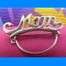 Vintage Sturdy Charm Holder Pendant or Brooch : Gift For Mother - Spells Mom