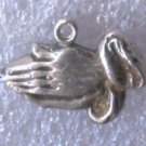 vintage BEAU STERLING PRAYING HANDS RELIGIOUS CHARM