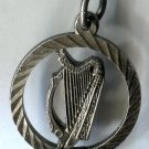 vintage HARP in a CIRCLE CHARM signed SILVER GJ LTD