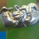 Size 5.5 Ring : Shube's Sterling 3 Little Pigs & the Big Bad Wolf Nursery Rhyme