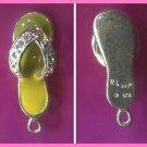 Sterling & Gems & Yellow Enamel FLIP FLOP SANDAL CHARM  #03