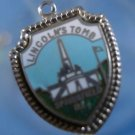 LINCOLN'S TOMB : ENAMEL TRAVEL VACATION SOUVENIR CHARM : sterling