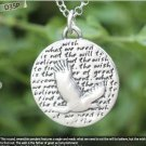 Inspirational Kevin & Anna  Charm 950 Silver / EAGLE = WISH QUOTE / 22mm
