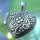 Heart Pendant Locket Signed w/ Lower Case B In An Oval : Great Gift : NWOT