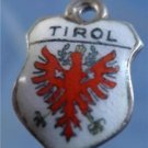 TIROL Enamel & 800 Silver Travel Shield Souvenir Charm signed REU