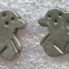 STERLING 925 SILVER TOUS (?) BEAR PIERCED POST STUD EARRINGS - 4.7 GRAMS TTL