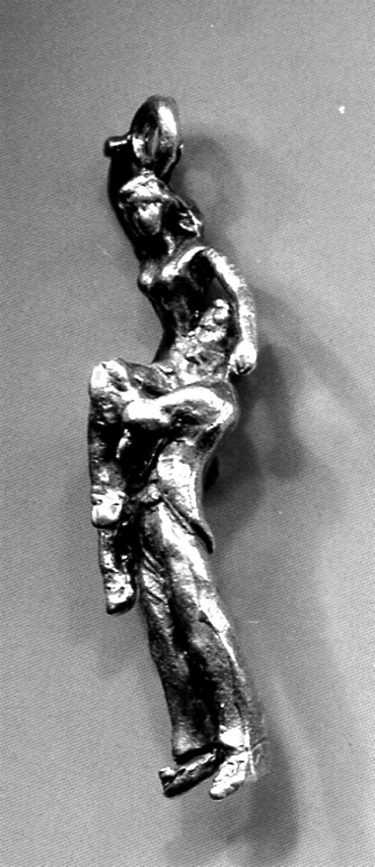Vintage Sterling Charm : 2 Dancers #4 From Judith Jack Bracelet