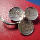 vintage SILVER BROOCH SHAMROCK BROOCH 1896 STATE EXHIBITION NURNBERG coin TOKEN