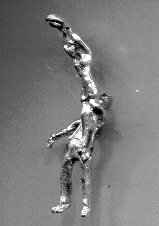 Vintage Sterling Charm : 2 Dancers #7 From Judith Jack Bracelet