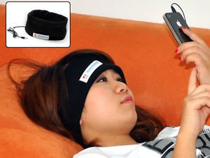 Sleep Mask With Headphones Lightweight 2.4oz Music Removable Speakers 3.5mm Jack
