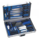 CUTLERY SET PROFESSIONAL CHEF'S 22 PIECES ALUMINIUM STORAGE CASE WITH 8 GADGETS