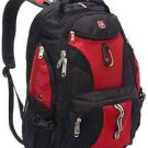 Backpack Camping Hiking Travel SwissGear Roomy17 inch Laptop LayFlat Design RED