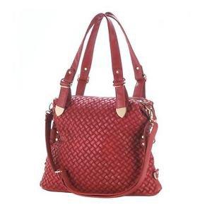 Shoulder Bag Red Jetset Inner Pockets Shoulder Strap Zipper Closure