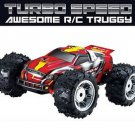 RC CAR TRUCK TRUGGY TURBO SPEED 1:18 SCALE OFF ROAD TIRES BATTERIES INCLUDED