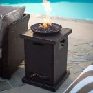 FIRE BOWL PIT COLUMN GAS FIRED LAVA ROCKS 40K BTU PATIO