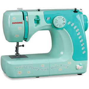 Sewing Machine Hello Kitty Portable 2 Feet Bobbins Seam Ripper Button Hole Foot