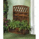 TRELLIS PLANTER BOX  FIR WOOD RECTANGULAR PLANTING BOX GARDENER DECORATIVE NEW